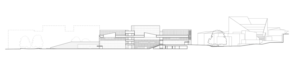 Section of the Aalto University Väre Building for the School of Arts, Design and Architecture, designed by Verstas Architects.