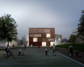 Jätkäsaari School competition proposal by Verstas Architects