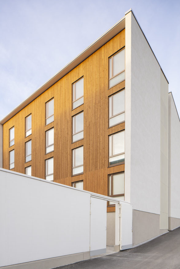 Wooden prefabricated CLT element student housing in Jyväskylä by Verstas Architects