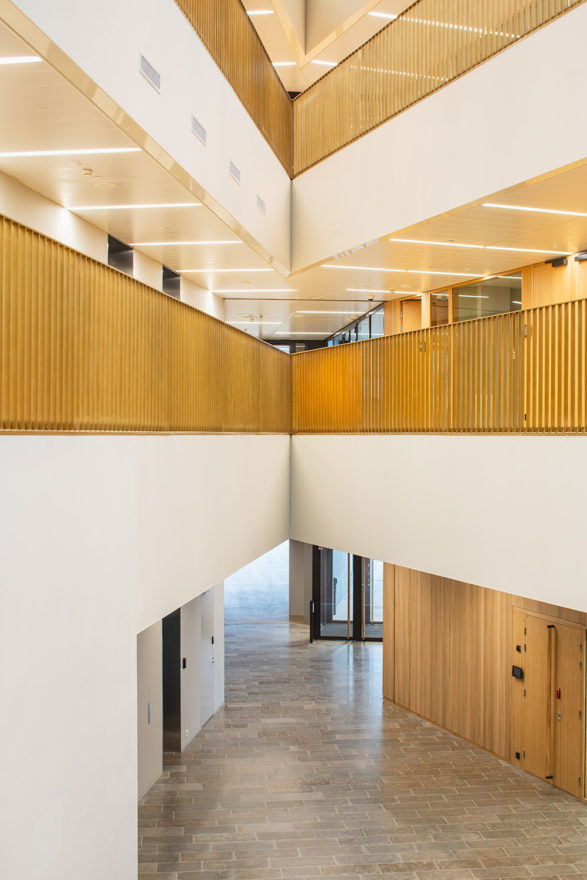 A lobby in the Aalto University School of Business designed by Verstas Architects