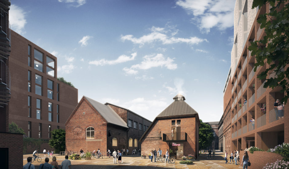 Refurbished and infill housing in the Arabia factory block masterplan by Verstas Architects