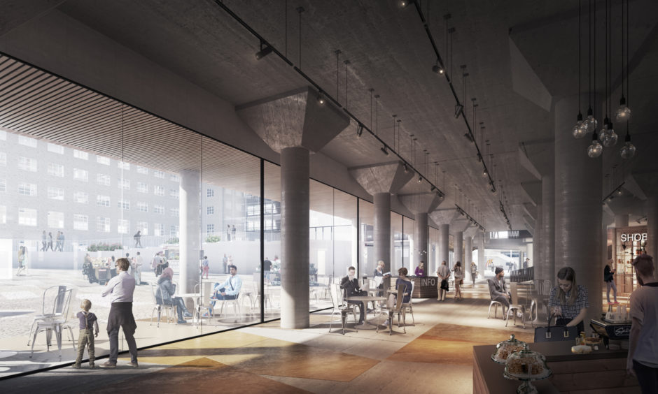 Refurbished interior view of the Arabia factory block masterplan by Verstas Architects