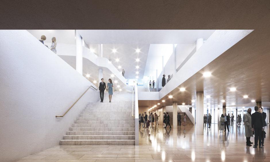 Verstas-Arkkitehdit_Tapiolan-kulttuuriaukio_Sisäkuva-aulasta