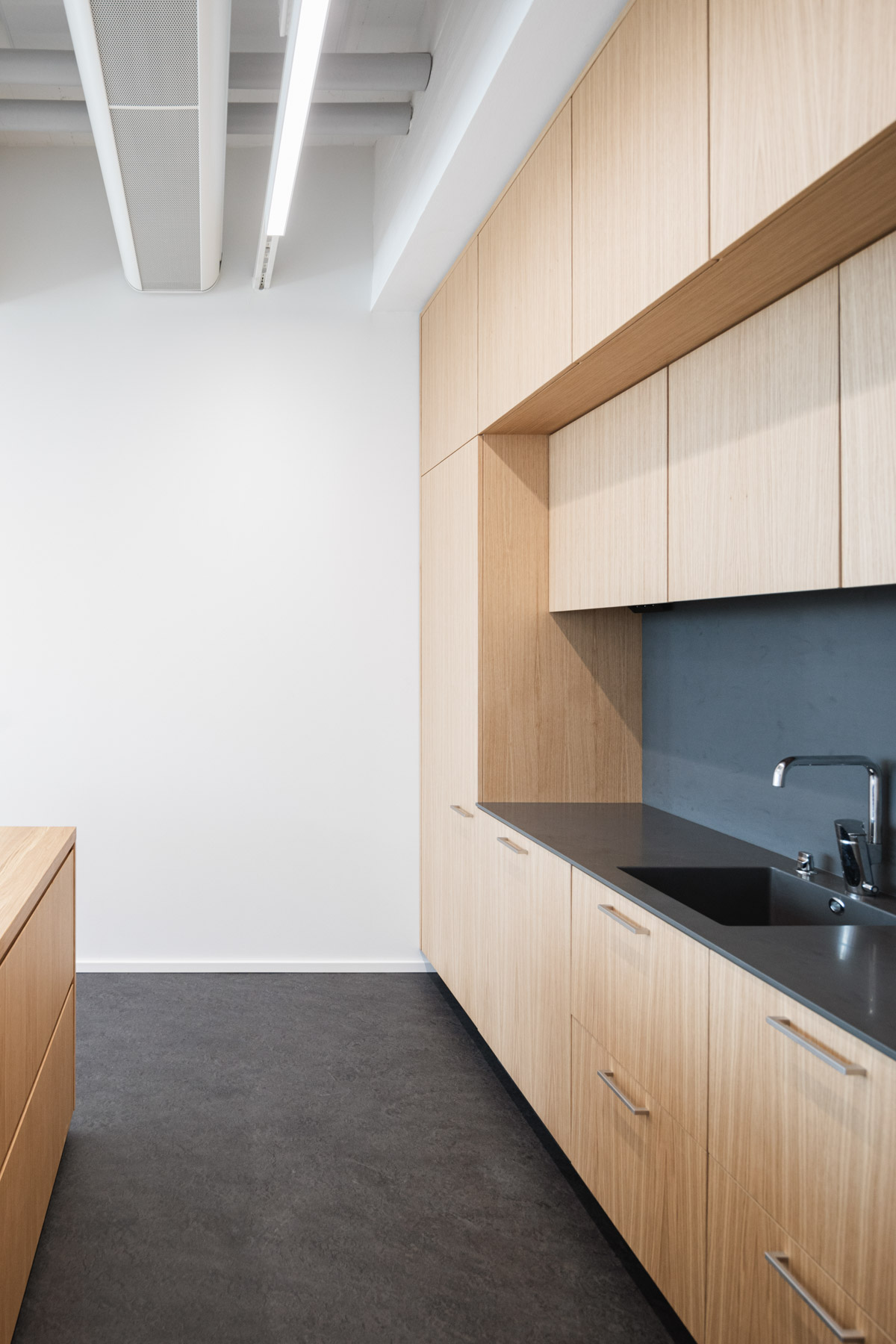 The new office of Verstas Architects, designed by ourselves. Oak furniture.
