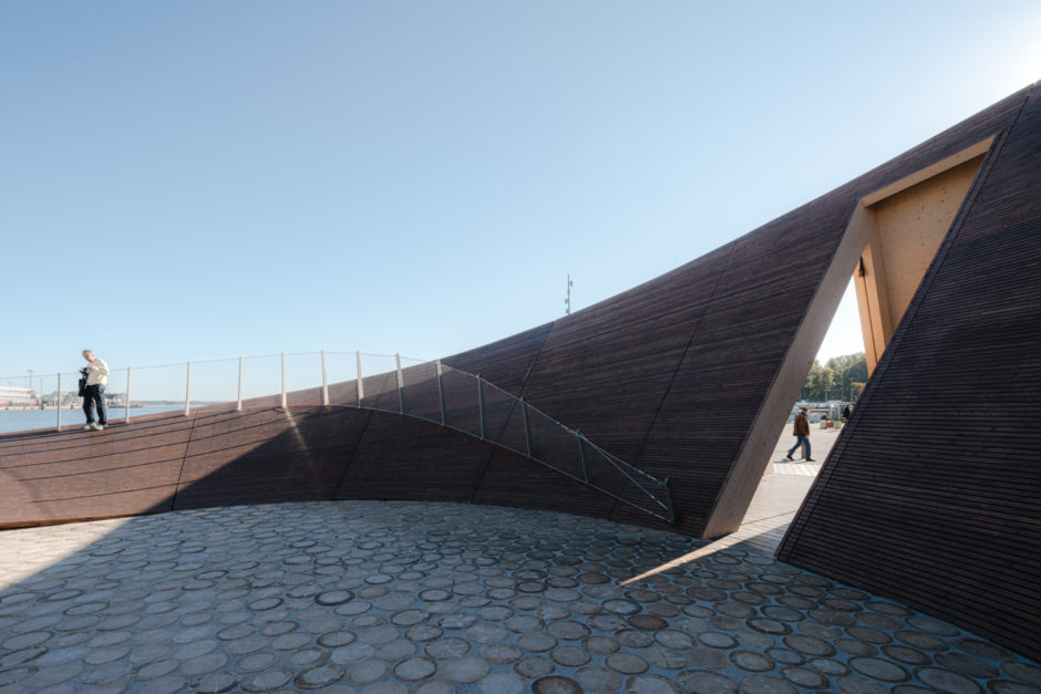The wooden Helsinki Biennial Pavilion by Verstas Architects