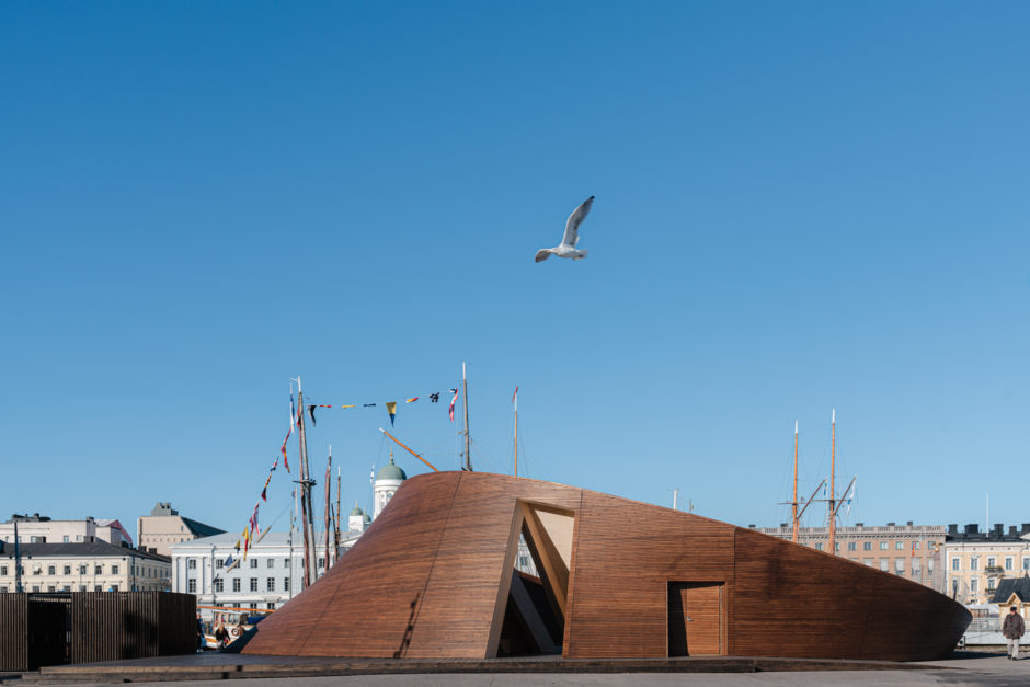 The wooden Helsinki Biennial Pavilion by Verstas Architects