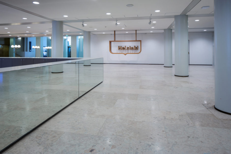 Helsinki City Hall lobby refurbishment by Verstas Architects and KOKO3