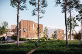 The pshychiatric hospital of the Lapland Central Hospital designed by Verstas Architects